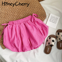 Shorts Girl Baby Cotton Children's Summer Cute Knickerbockers Lace-Up