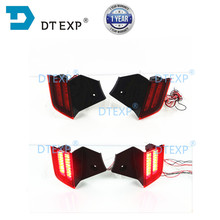 LED Rear Bumper Reflector Light for Pajero Sport 2015-2020 Driving Brake Light Red Fog Lamps for montero sport pair Day Light liandlee car tracing cauda laser light for mitsubishi pajero sport pajero dark 2008 2015 anti fog lamps rear lights
