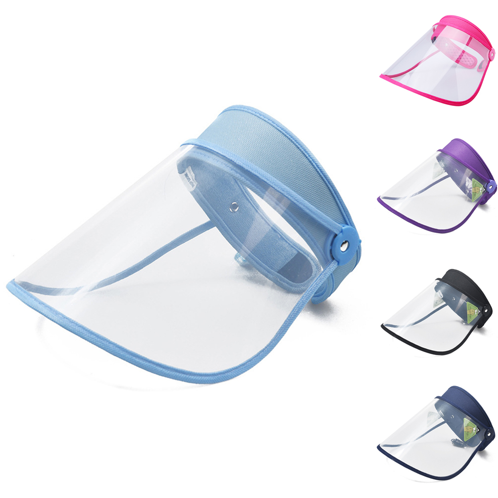 Safety Full Face Shield Cover Hat Mask Clear Flip Up Visor Oil Fume Protection Work Guards Fisherman Hats Cap