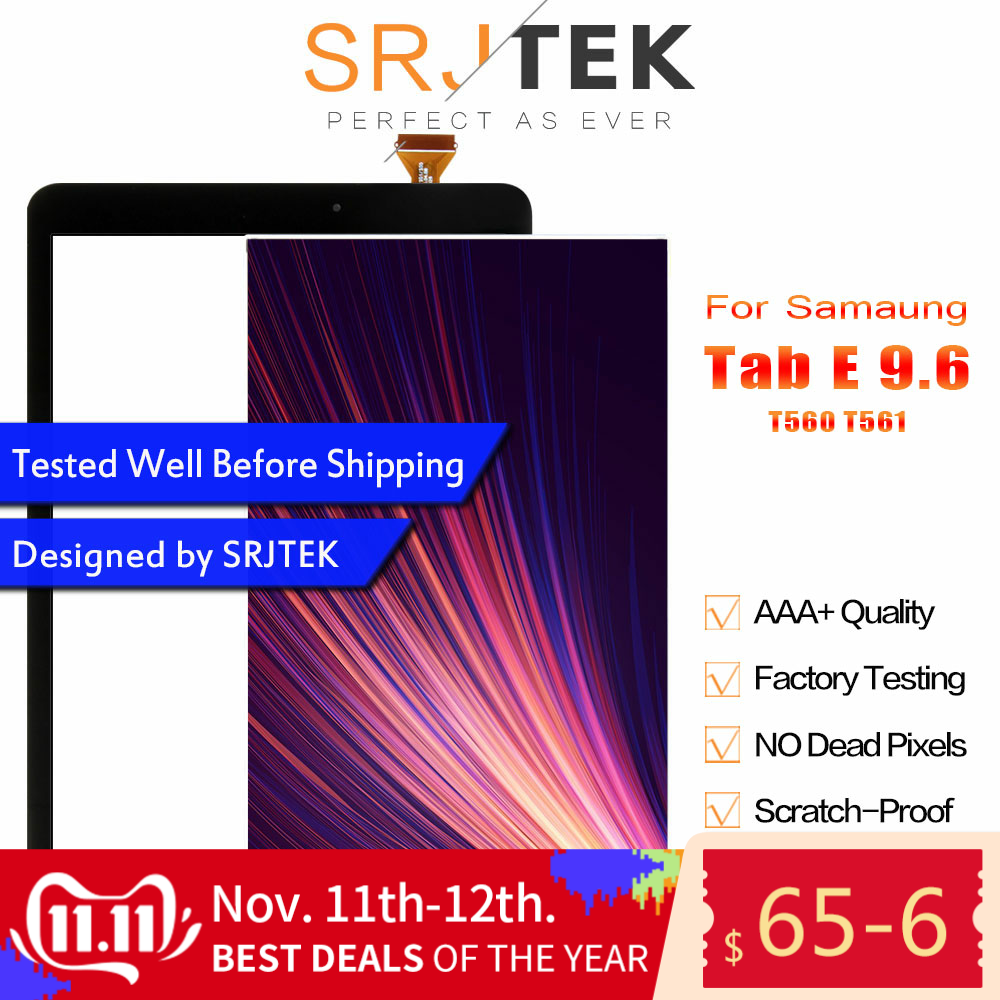 Srjtek T560 LCD Touch Panel Für Samsung Galaxy Tab E SM-T560 T560 T561 LCD Display Mit Touch Screen Panel Digitizer montage