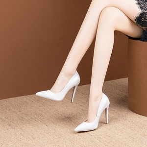 Image 4 - BLXQPYT seksi iki yolu giymek büyük 33 50 yüksek kaliteli kadın pompaları sivri burun ince yüksek Heels12cm düğün parti ayakkabıları YM 20