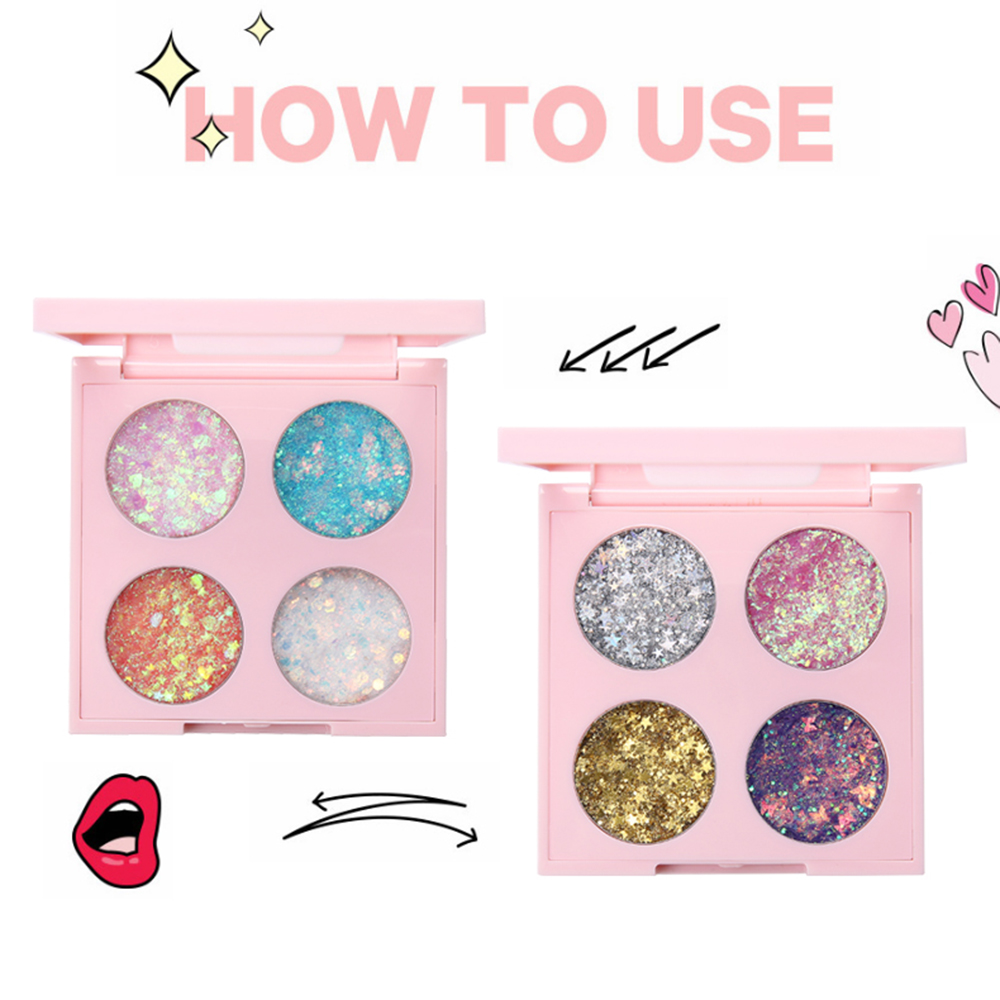 US $0.58 40% OFF|Four color Glitter Eyeshadow Pallete Heart Star Shaped Sequin Eyeshadow Shadow Palette Powder Pigment Long Lasting Cosmetics-in Eye Shadow from Beauty & Health on AliExpress