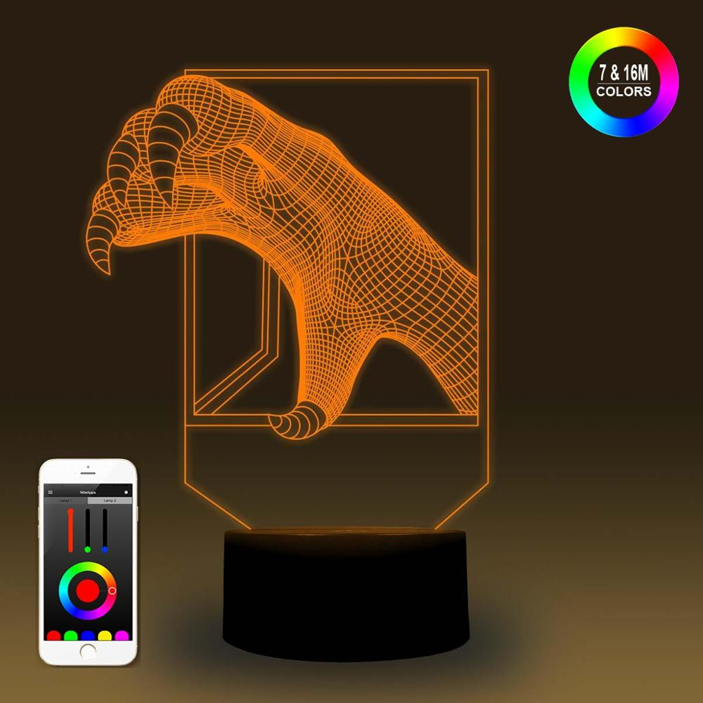 NiteApps 3D Claw Night Light Desk Table Illusion Lamp Holiday Birthday Gift APP/Touch Control