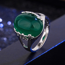 100% 925 Sterling Silver Ring for Women Men Natural Emerald Gemstone Turquoise Bizuteria Solid Silver 925 Jewelry Emerald Rings real s925 sterling silver natural amethyst ring for women silver 925 jewelry emerald bizuteria gemstone silver 925 jewelry rings