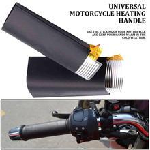 12V мотоцикл горячий комплект покрывает Мотоцикл Скутер автомобиль Электрический Подогрев ручка руль Мотокросс Горячая ручка бар