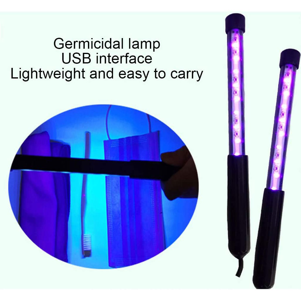 Portable LED UV Lamp Light Stick For Toothbrush Underwear Household Handheld Type Deep Cleaning Tools