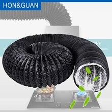 Вентилятор воздуховод; 5 м 10 м алюминиевый гибкий вентиляционный воздуховод, ПВХ воздуховод для кухни, туалета, гидропоника вытяжной вентилятор воздуховод