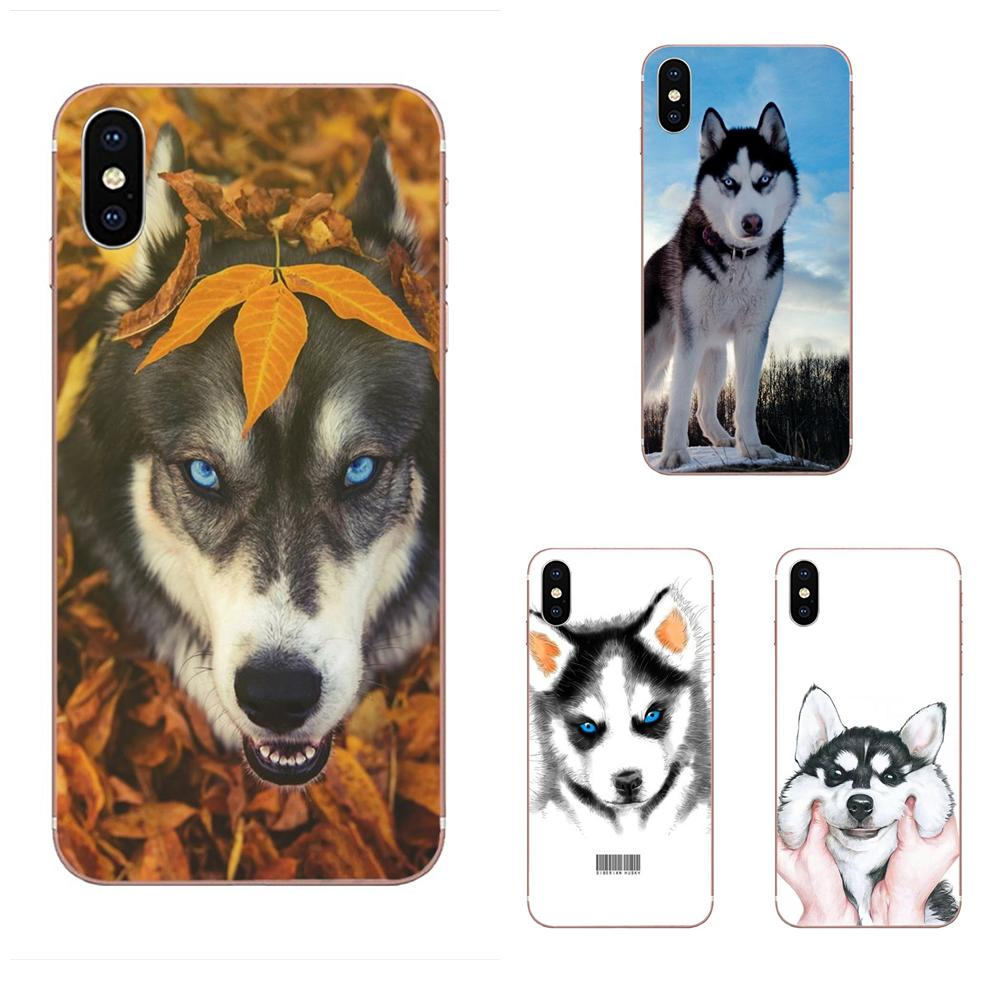 Soft TPU Case Capa Cover <font><b>Siberian</b></font> <font><b>Husky</b></font> Puppy Dog For Galaxy Grand A3 A5 A7 A8 A9 A9S On5 On7 Plus Pro Star 2015 2016 2017 2018 image