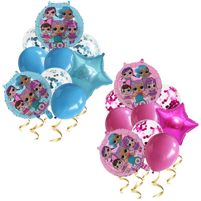 9 шт. из серии «LOL Surprise» на день рождения воздушные шары из серии «LOL вечерние поставки количество воздушных шаров набор украшения дома День р...