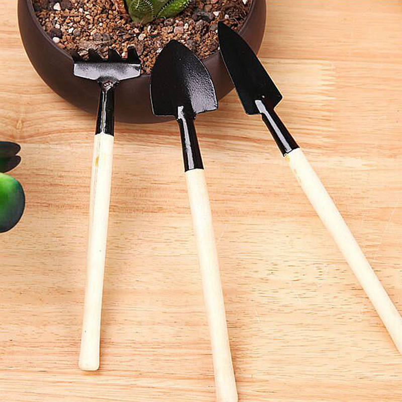 1set Gardening Tools Plants MiNi Dig Soil Friable Shovel Scorpion Rakes Wooden Handle Light Easy Carry For Gaden Bonsai