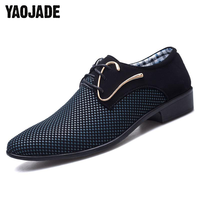 New Pattern 2018 Classic Mens Business Casual Shoes Man's Sharp Head Single Shoes High Quality Formal Shoes Wear Comfortable