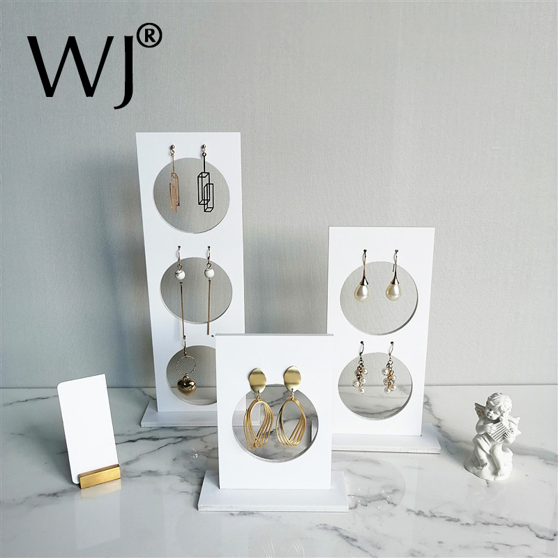 Vertical Acrylic Perspex Earrings Ear Studs Jewelry Shop Display Rack Stand Organizer Countertop Hanging Holder Photograph Case