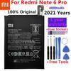 Original Phone Battery for Redmi Note 6 Pro Battery Xiaomi redmi Note 6 Pro BN48 Batteries Red rice Note6 Pro bateria Battery