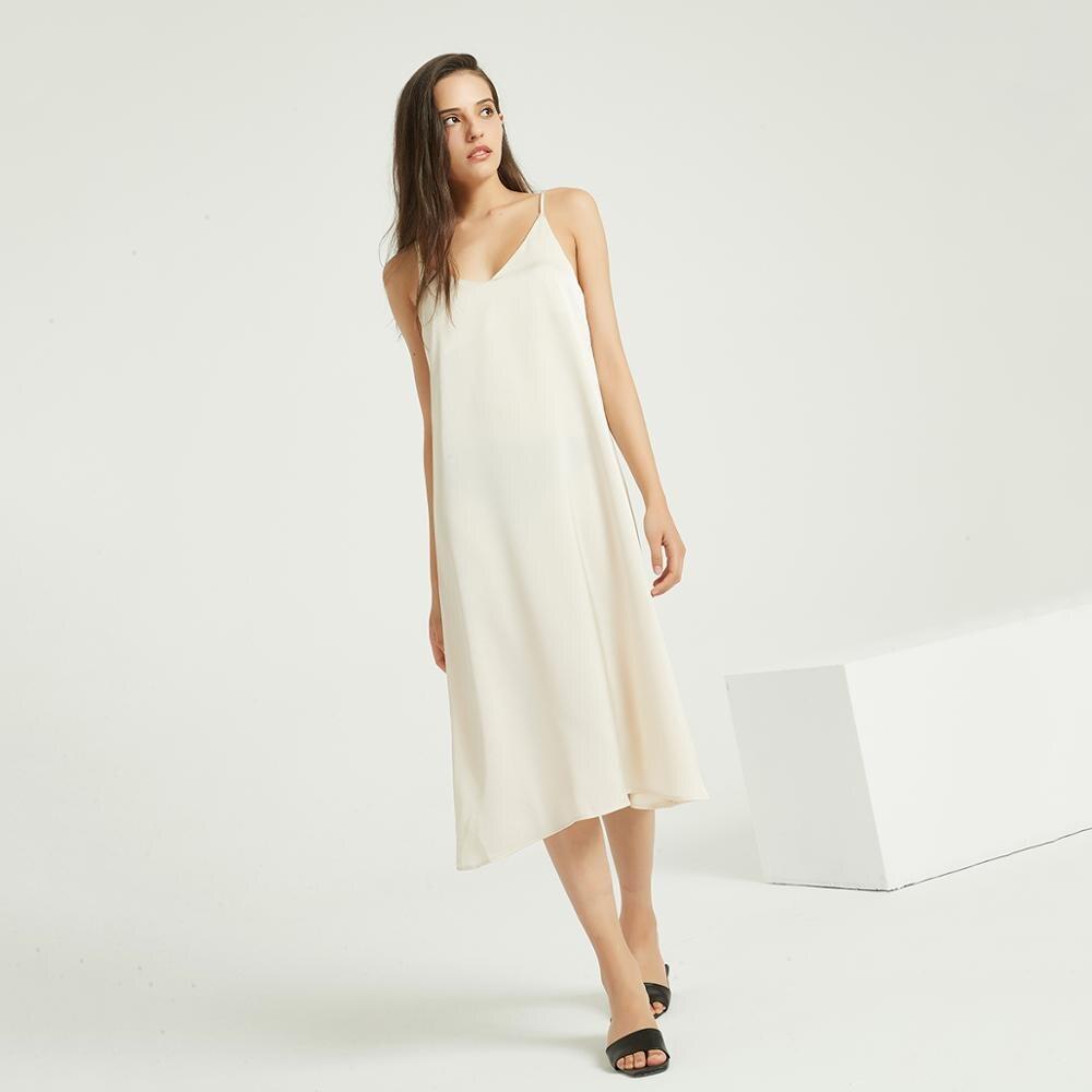 Wixra فستان ساتان مثير ، أحزمة ، رسن ، فساتين فضفاضة ، ربيع ، صيف ، بلا أكمام ، ملابس أساسية صلبة للنساء|Dresses| - AliExpress