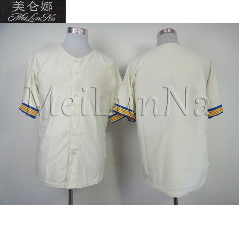 Jim Bouton Seattle Pilots Baseball Jerseys Retro T-shirts Quick Dry Embroidery Cream