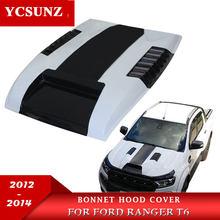 Car Accessories Bonnet Scoop Hood For Ford Ranger T6 2012 2013 2014 Wildtrak ABS Material