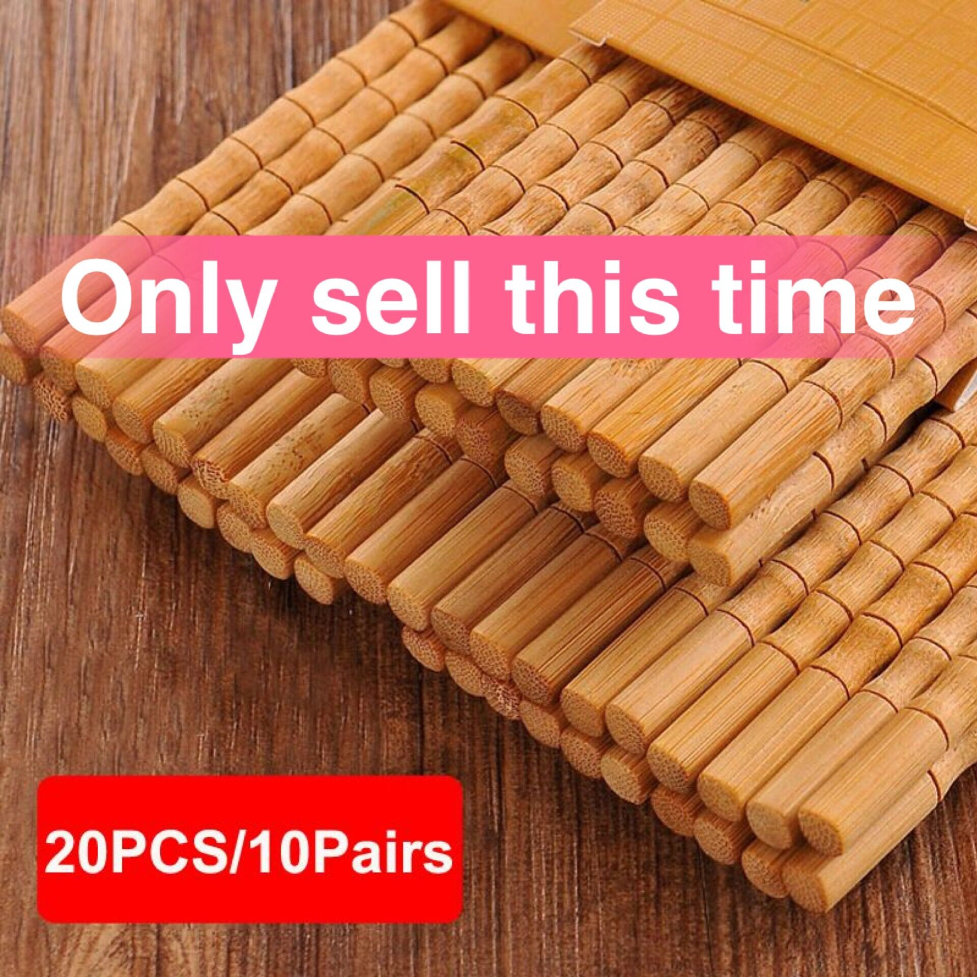 20PCS Kitchen Mildew Chopsticks Nanzhu Household Solid Wood Mildew High Temperature Bamboo Non slip Family Pack Chinese NoPaint Chopsticks     - title=