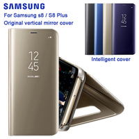 SAMSUNG Original Mirro Cover Clear View Phone Case EF ZG955 For Samsung Galaxy S8 G9500 S8+ S8 Plus SM G955 Rouse Slim Flip Case