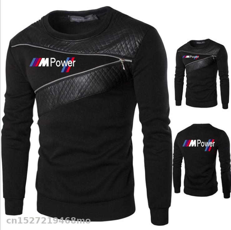 Fashion Round Neck For Bmw Sweater Men With Zipper Decoration Coat Motorsport Car Motorcycle Cycling Mens Clothes Dg
