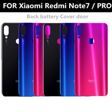 For Xiaomi Redmi note7 PRO Battery Cover Back Glass Panel Rear Door Housing Case For Redmi note 7 pro Back battery Cover door for xiaomi redmi note 6 pro case 360 degree full body cover case for xiaomi redmi note 6 pro hybrid shockproof case glass film
