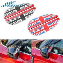 цена на For MINI F54 F55 F56 F60 Rear View Mirror Rain Visor For MINI COOPER Countryman R60 R55 R56 Side Rearview Mirrors Eyebrow Cover