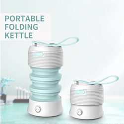 Portable Kettle Travel Folding Insulation Electric Kettle Home Student Small Silicone Heating Kettle
