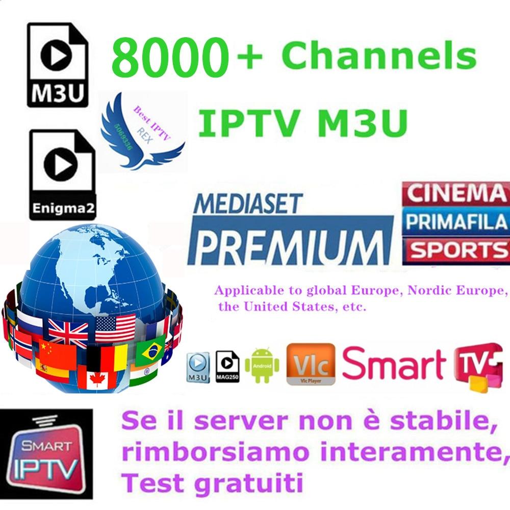IPTV M3u Subscription Iptv Italy UK German  Spanish India Pakistan Turkey Arabic For Android TV Box MAG25X TVIP Smart TV