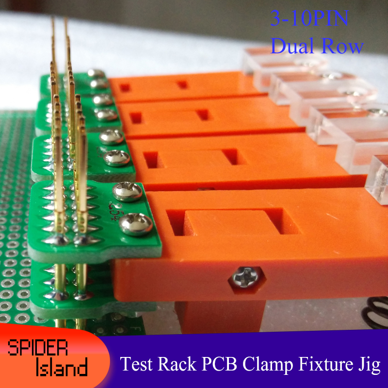 JTAG Test Tool Test Rack PCB Clamp Tool Fixture Probe Download Program Programming Burning 2.54 Dual Row 3Pin-10Pin +30cm Cable