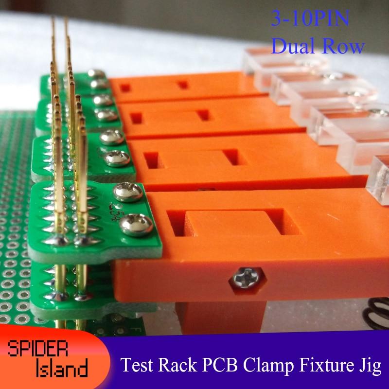 JTAG Test Tool Test Rack PCB Clamp Tool Fixture Probe Download Program Programming Burning 2.54 Dual Row 3Pin-10Pin +30cm Cable