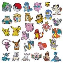 Quente 30 estilo pokemon ferro no remendo bordado roupas remendos dos desenhos animados para a roupa criança umbreon pano adesivos vestuário apliques