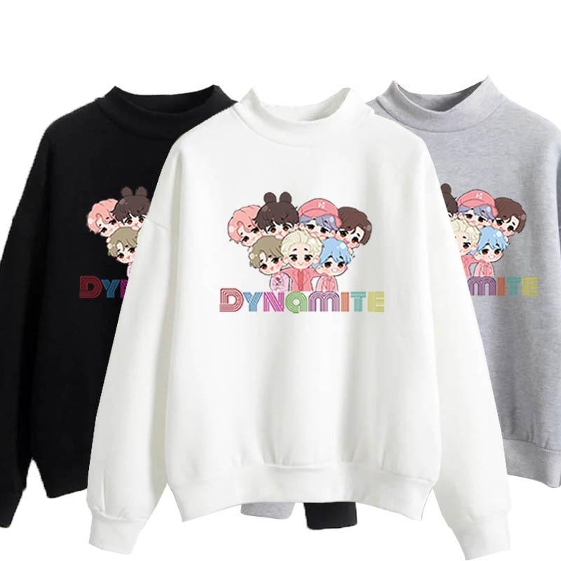 anime hoodie kpop winter couple clothes korean harajuku oversize crewneck sweatshirt  fall 2020 women clothing long sleeve tops 1