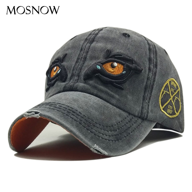 Cap Vintage Washed Cotton Baseball Caps Men Snapback Dad Hat Summer Women Cap Embroidery Eye Casquette Gorras Outdoor Sun Hat