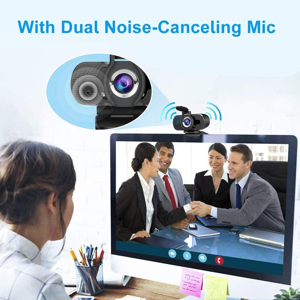 1080P Webcam Auto Focus Full HD Clip Web Camera with Mic Household Computer Accessories for Video Conference