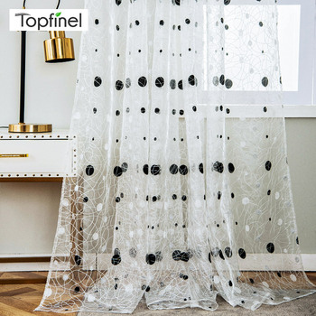 Bird Nest Sheer Curtains With Dots 1