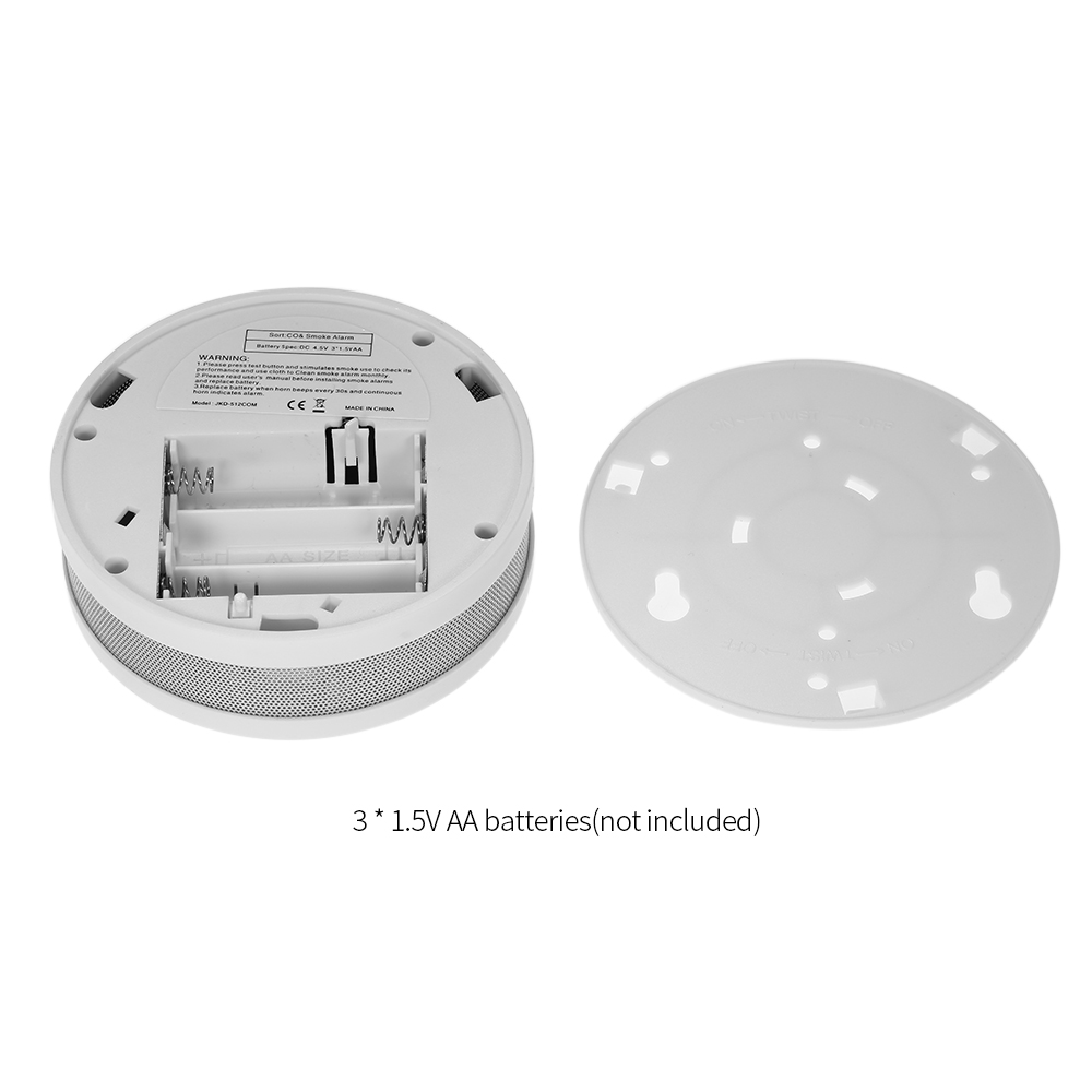 ESCAM 2 in 1 LCD Display Carbon Monoxide & Smoke Combo Detector Battery Operated CO Alarm with LED Light Flashing Sound Warning