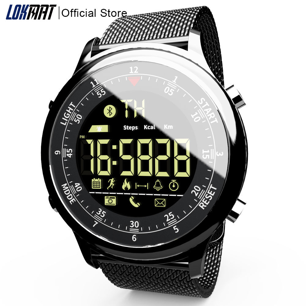New Outdoor Sport SmartWatch Waterproof Digital Clock Information Reminder Bluetooth Smart Watch Men For IOS And Android