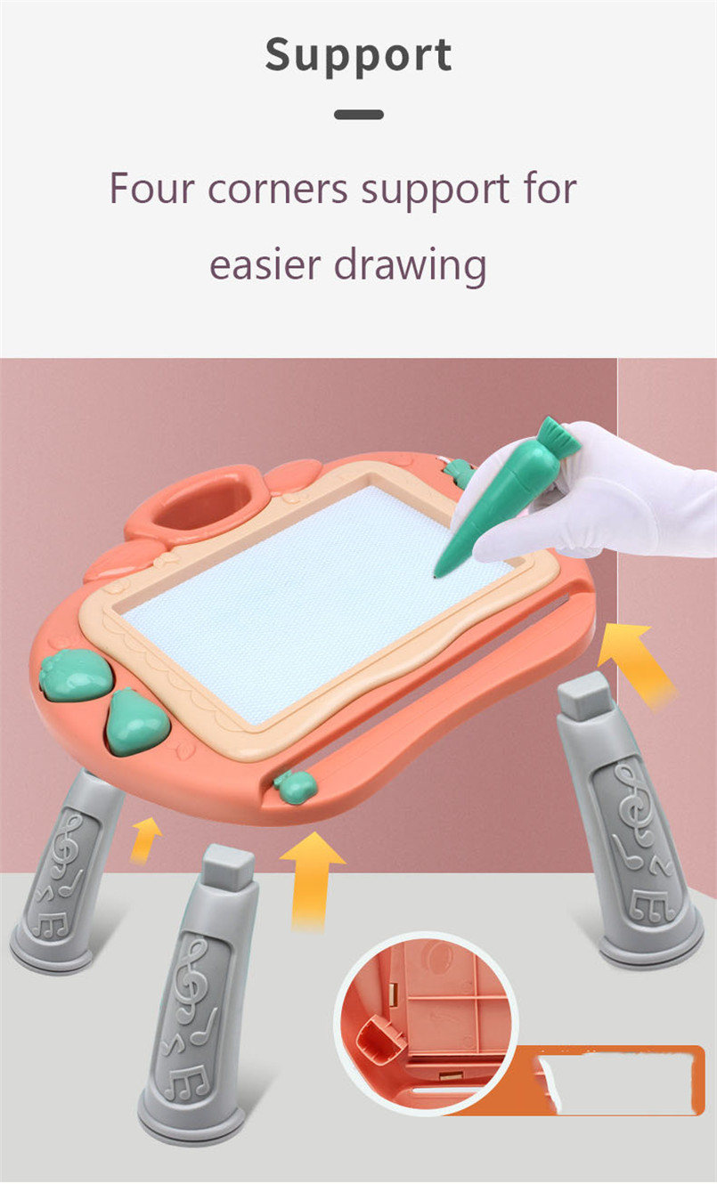 36*17cm Magnetic Drawing Board Desk Toys For Girls Boys Sketch Pad Doodle Writing Painting Table Art Learning Children Kids Toy 5