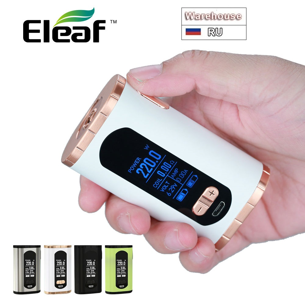 Original Eleaf Invoke 220W TC Box MOD 220W Maximum Output With 1.3-inch Huge Display No 18650 Battery Huge Power E-cig Vape Mod
