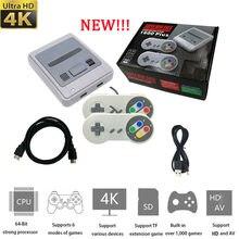 Para Super Nintendo para Sega Video consola de juego de 4K HD-1600 juegos Retro Mini controlador/mando de juegos con cable todo-en-uno emulador de regalo