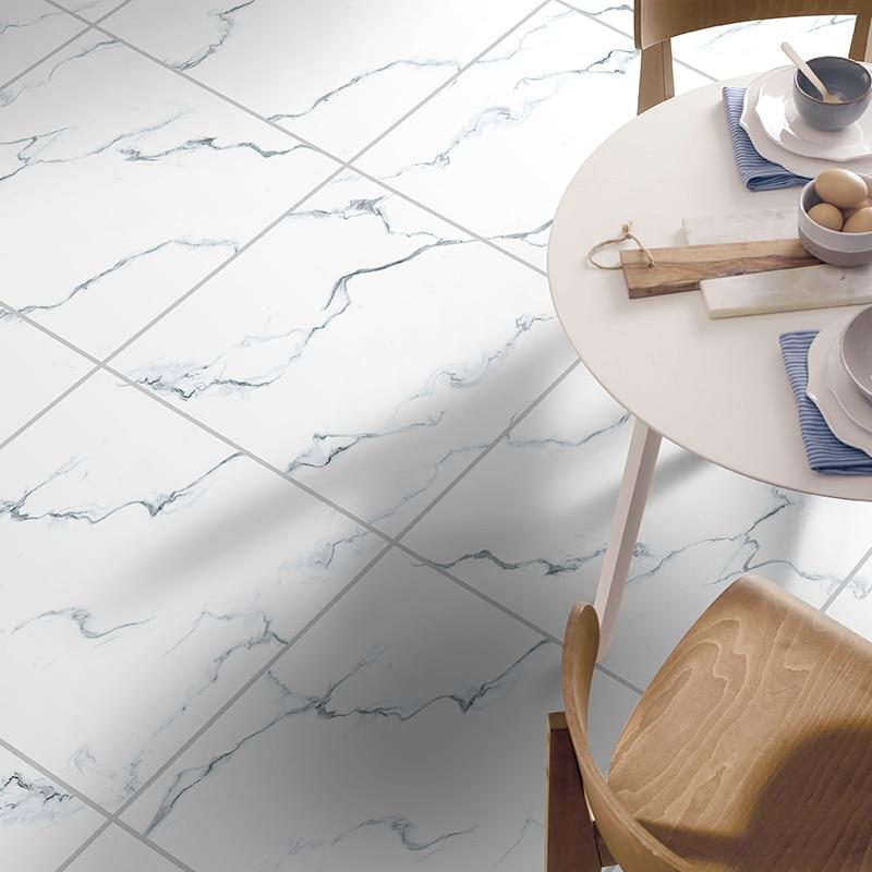 Self-adhesive Marble Floor Tile Wall Sticker PVC Oil-proof Waterproof For Home Living Room Bedroom Kitchen Bathroom DLS-01