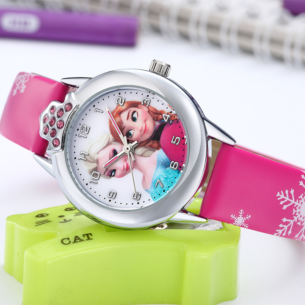 High Quality Waterproof Hot Winter Children's Watch Girl Princess Kids Watches Cute Cartoon Student Boy's And Girl's  Watch