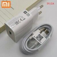 Xiaomi cargador 5V/2A adaptador de corriente de carga Micro USB tipo C Cable para Mi 8 9 SE lite A1 6 5 A2 mezclar 2 2s Redmi 4x4 5x5 Plus Nota 4 5