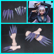 Nail-Paws-Cosplay-Accessories Kda Evelynn Party-Use Halloween for 5pcs/Set Finger-Paws