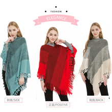 Autumn and winter new plus-size needle cape, tassel pullover cape шарф