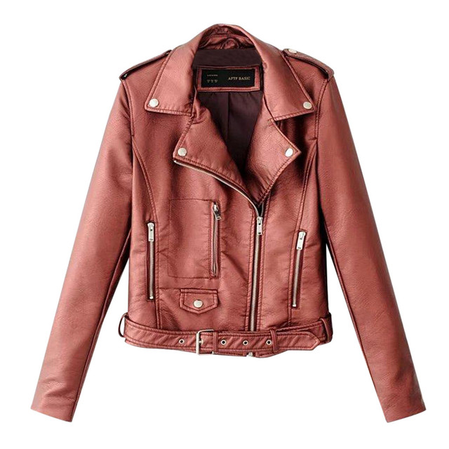 Leather Zipper Biker Jacket 4