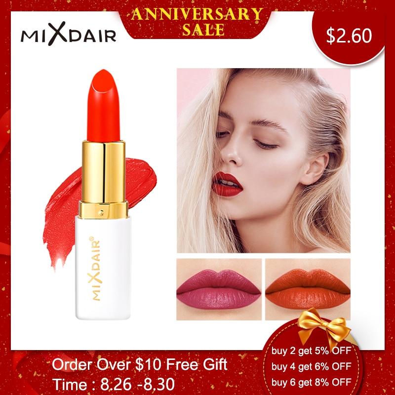 MIXDAIR 6 Cores de Veludo Batom Matte Matte maquiagem Beleza cosméticos Lábio À Prova D' Água de Longa Duração profissional por atacado