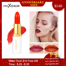 MIXDAIR 6 Colors Velvet Lipstick Matte Waterproof Long Lasting  professional wholesale Beauty makeup Matte Lip cosmetics денисова д кто это что это 2 второй год обучения
