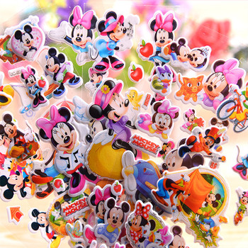 6-12 Stks/set Disney Speelgoed Sticker Disney Frozen Sofia Minnie Prinses Disney Prinses Speelgoed Cartoon 3D Stickers Meisjes Jongen stickers