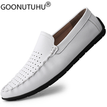 2020 new style fashion men's shoes casual genuine leather loafers male classic slip on shoe man flats soft driving shoes for men crocs classic unisex for male for female man woman tmallfs tmallfs shoes