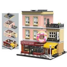 MOC 2919 шт., серия City Streetview, модели для выпекания в магазине, строительные наборы, блоки, кирпичи, детские игрушки, подарки, рождественский подарок
